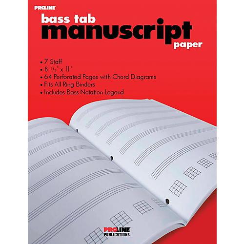 Proline Bass Tab Blank Manuscript Paper