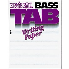Ernie Ball Bass Tab Writing Paper