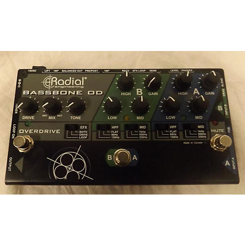 Radial Engineering Bassbone OD Bass Effect Pedal