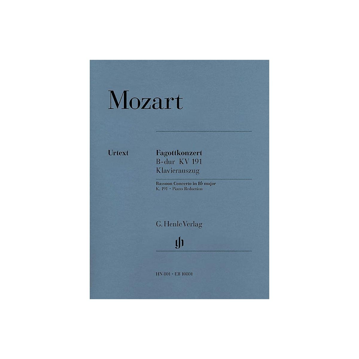 G. Henle Verlag Bassoon Concerto in B-flat Major, K. 191 Henle Music Folios Series Softcover