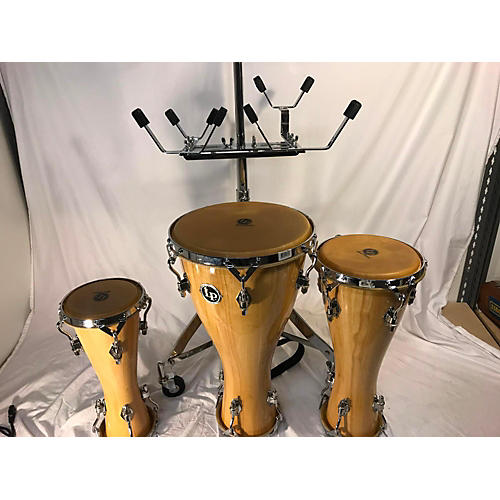 used lp bata drum set and stand hand drum guitar center. Black Bedroom Furniture Sets. Home Design Ideas