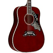 Bats in Flight Acoustic Guitar Blood Red