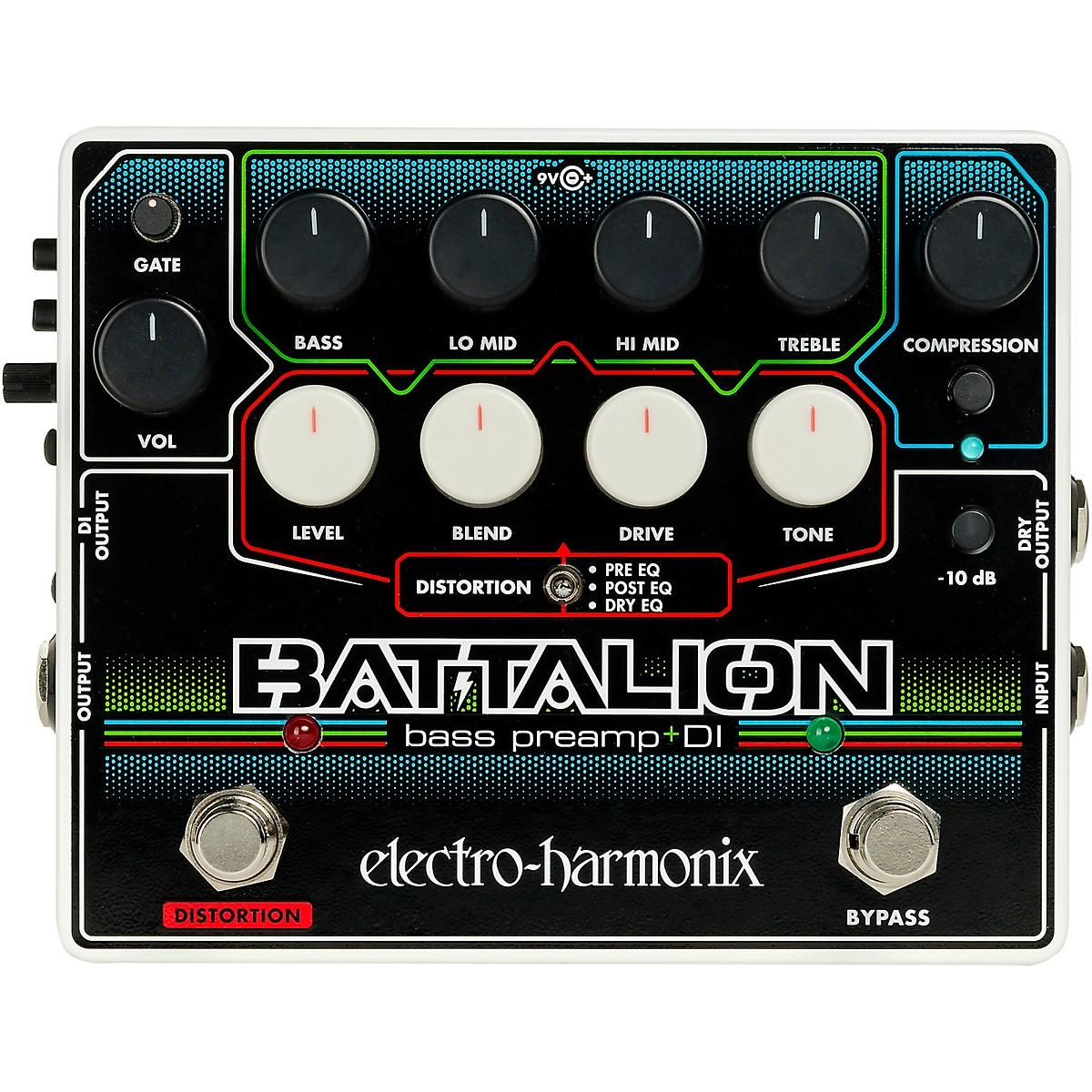 Electro-Harmonix Battalion Bass Preamp and DI Pedal
