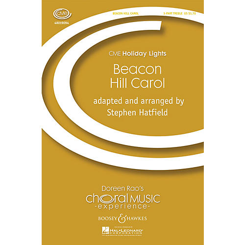 Boosey and Hawkes Beacon Hill Carol (CME Holiday Lights) 3 Part Treble A Cappella arranged by Stephen Hatfield