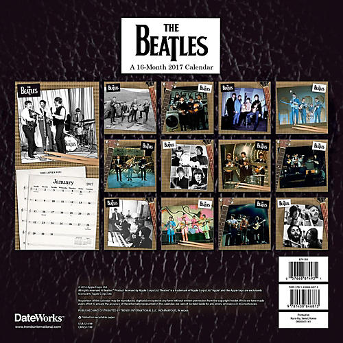 Browntrout Publishing Beatles 2017 12x12 Trends Calendar