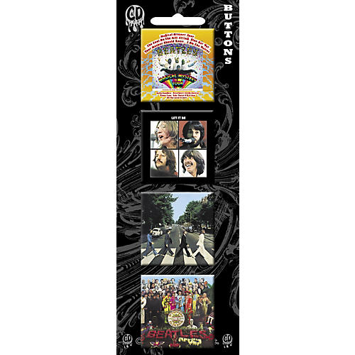 C&D Visionary Beatles Album Cover Button Set (4 piece)