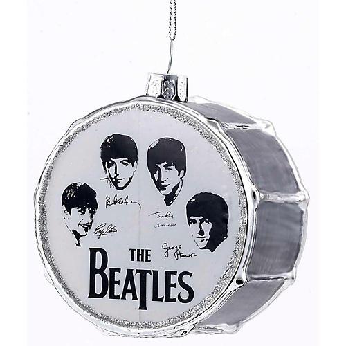 Kurt S. Adler Beatles Glass Silver Drum Ornament
