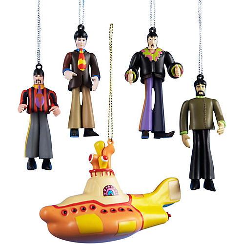 Kurt S. Adler Beatles Yellow Submarine 5-Piece Ornament Gift Box
