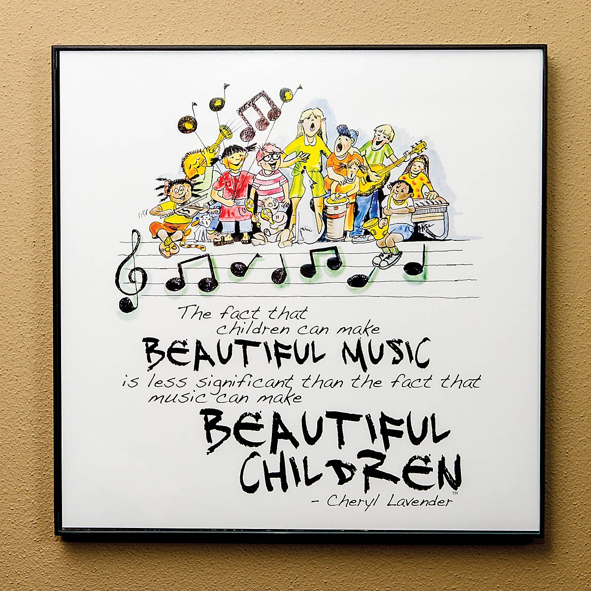 Hal Leonard Beautiful Music, Beautiful Children Print (12x12 Framed Print) Composed by Cheryl Lavender