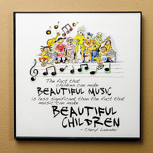 Hal Leonard Beautiful Music, Beautiful Children Print (12x12 Framed Print) Composed by Cheryl Lavender