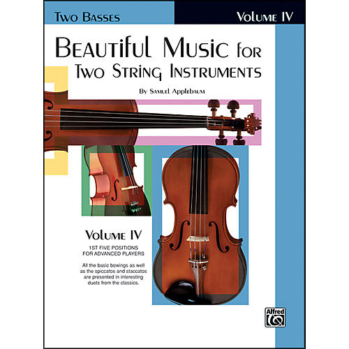 Alfred Beautiful Music for Two String Instruments Book IV 2 Basses