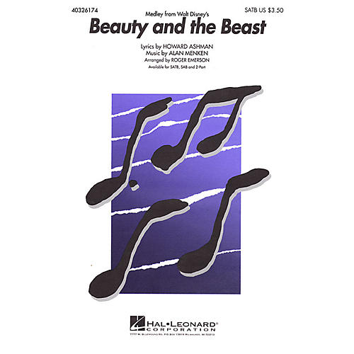 Hal Leonard Beauty and the Beast (Medley) SAB Arranged by Roger Emerson