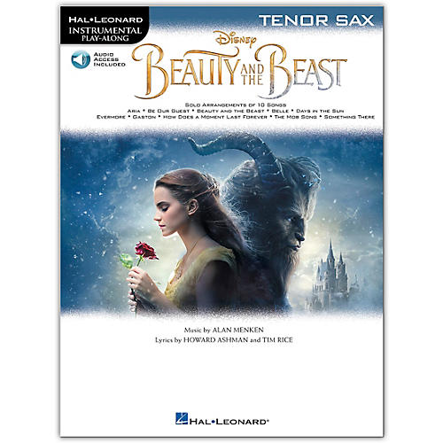 Hal Leonard Beauty and the Beast (Tenor Sax) Instrumental Play-Along Series Softcover Audio Online