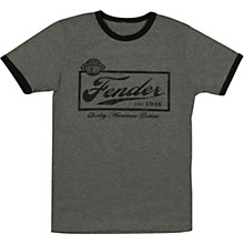 Fender Beer Label Mens T-Shirt Medium Black