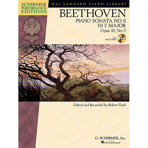 G. Schirmer Beethoven: Sonata No 6 in F Maj Op 10 No 2 Schirmer Performance Edition BK/CD by Beethoven Edited by Taub