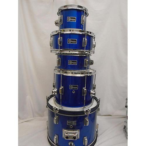 used gammon percussion beginner drum set drum kit blue guitar center. Black Bedroom Furniture Sets. Home Design Ideas