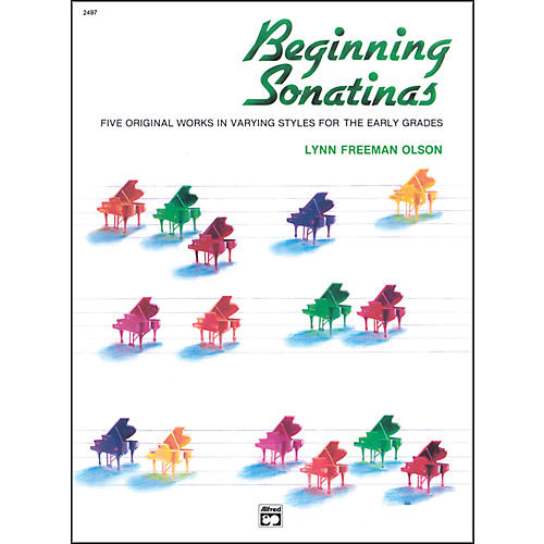 Alfred Beginning Sonatinas Elementary / Late Elementary Piano Book