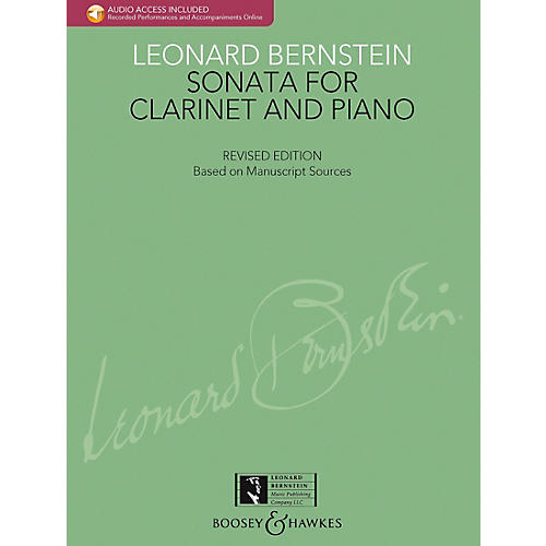 Boosey and Hawkes Bernstein - Sonata for Clarinet and Piano Boosey & Hawkes Chamber Music BK/CD by Leonard Bernstein