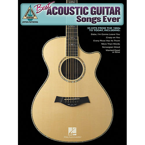 Hal Leonard Best Acoustic Guitar Songs Ever Guitar Tab Songbook