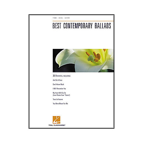 Hal Leonard Best Contemporary Ballads Piano/Vocal/Guitar Songbook