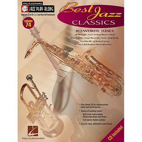 Hal Leonard Best Jazz Classics (Jazz Play-Along Volume 74) Jazz Play Along Series Softcover with CD