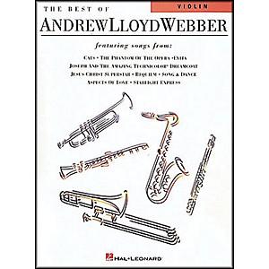 Hal Leonard Best Of Andrew Lloyd Webber for Violin by Hal Leonard
