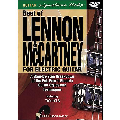Hal Leonard Best Of Lennon & McCartney for Electric Guitar Signature Licks DVD