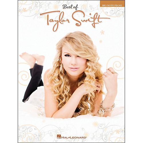 Hal Leonard Best Of Taylor Swift Big Note Piano