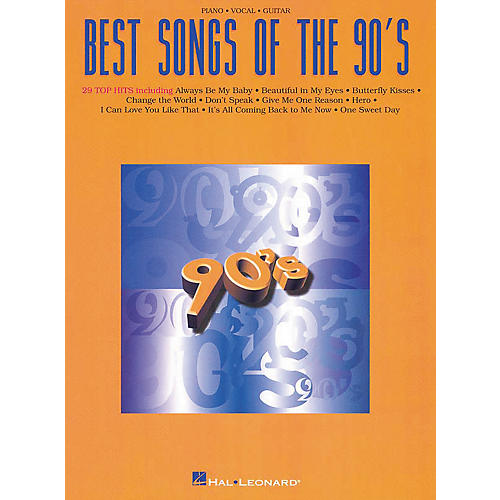 Hal Leonard Best Songs Of The 90's Piano/Vocal/Guitar Songbook