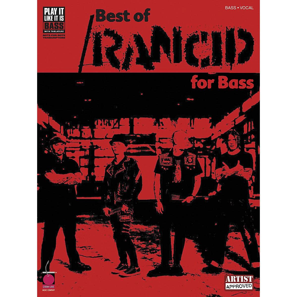 Cherry Lane Best of Rancid Bass Guitar Tab Songbook