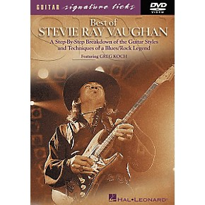 hal leonard best of stevie ray vaughan signature licks dvd guitar center. Black Bedroom Furniture Sets. Home Design Ideas