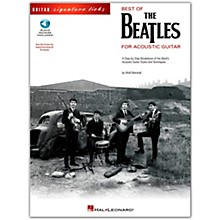 Hal Leonard Best of The Beatles for Acoustic Guitar Signature Licks (Book/Online Audio)