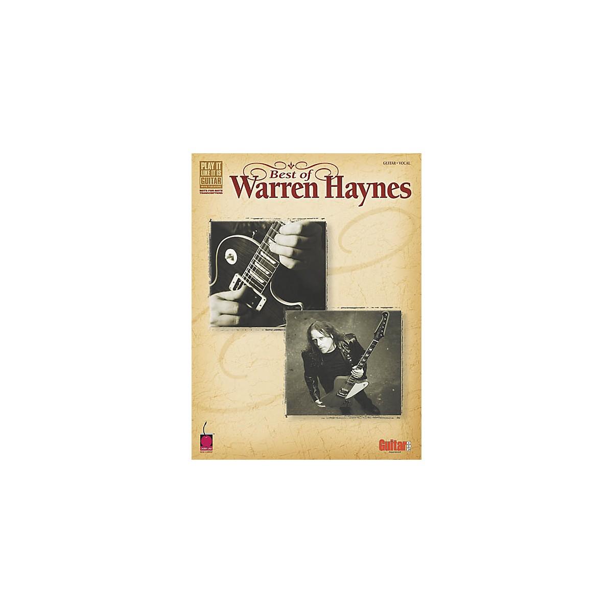 Cherry Lane Best of Warren Haynes Guitar Tab Songbook