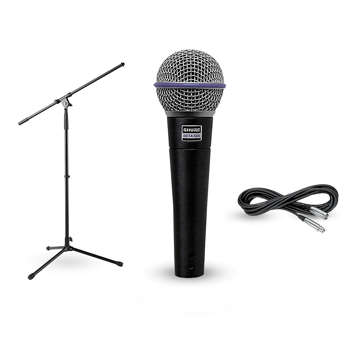 Shure Beta 58A, Stand & Cable Package