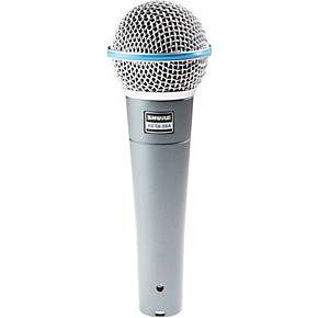 shure beta 58a supercardioid dynamic vocal microphone guitar center. Black Bedroom Furniture Sets. Home Design Ideas