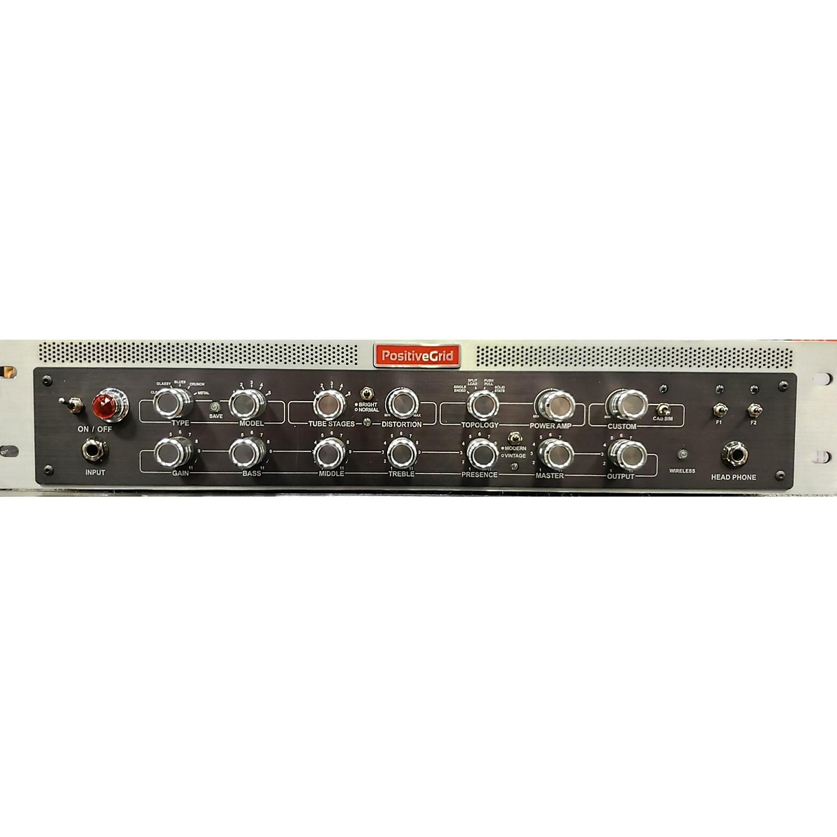 Positive Grid Bias Rackmount Powered Solid State Guitar Amp Head