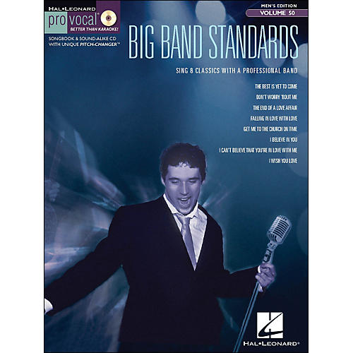 Hal Leonard Big Band Standards - Pro Vocal Songbook & CD for Male Singers Volume 50