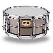 Big Black Brass Snare Drum with Tube Lugs and Chrome Hardware Black 14 x 6.5 in.