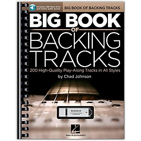 hal leonard big book of backing tracks 200 high quality play along tracks in all styles book. Black Bedroom Furniture Sets. Home Design Ideas