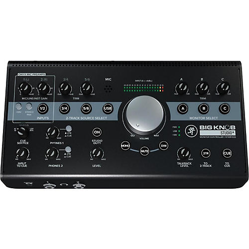mackie big knob studio monitor plus controller interface guitar center. Black Bedroom Furniture Sets. Home Design Ideas