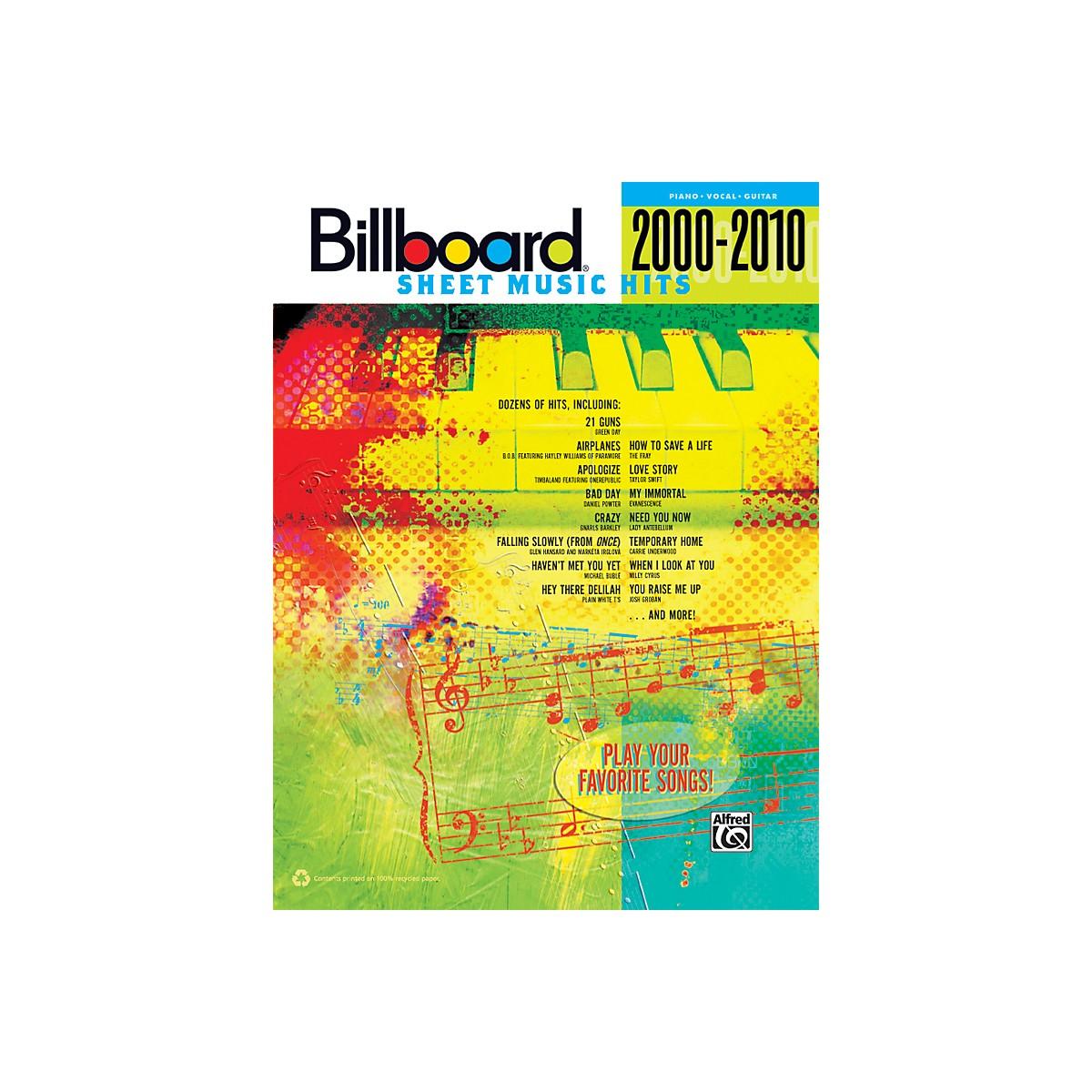 Alfred Billboard Sheet Music Hits 20002010 PVC