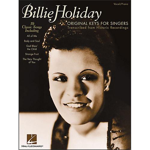 Hal Leonard Billie Holiday - Original Keys for Singers