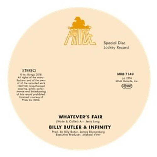 Alliance Billy Butler & Infinity & Lady Lee - Whatever'S Fair / Simple Things