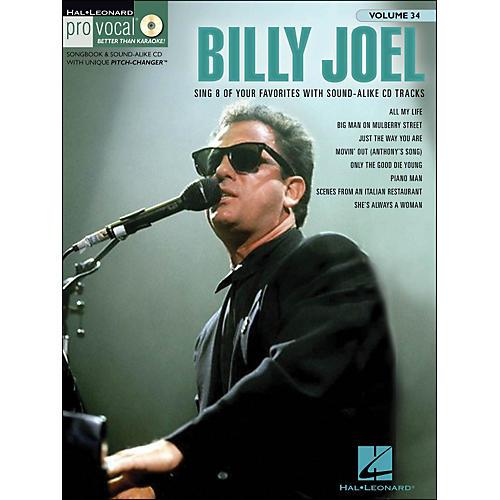 Hal Leonard Billy Joel - Pro Vocal Songbook & CD for Male Singers Volume 34