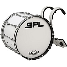 Sound Percussion Labs Birch Marching Bass Drum with Carrier Level 1 20 x 14 White