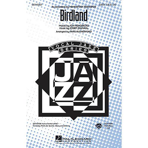 Hal Leonard Birdland ShowTrax CD Arranged by Paris Rutherford