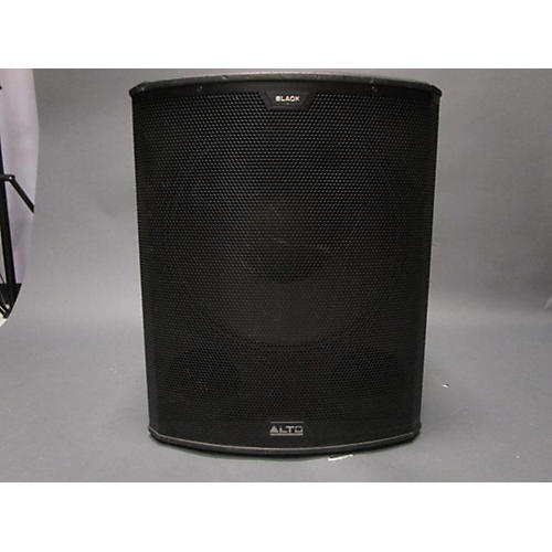used alto black 18in active subwoofer 2400w powered subwoofer guitar center. Black Bedroom Furniture Sets. Home Design Ideas