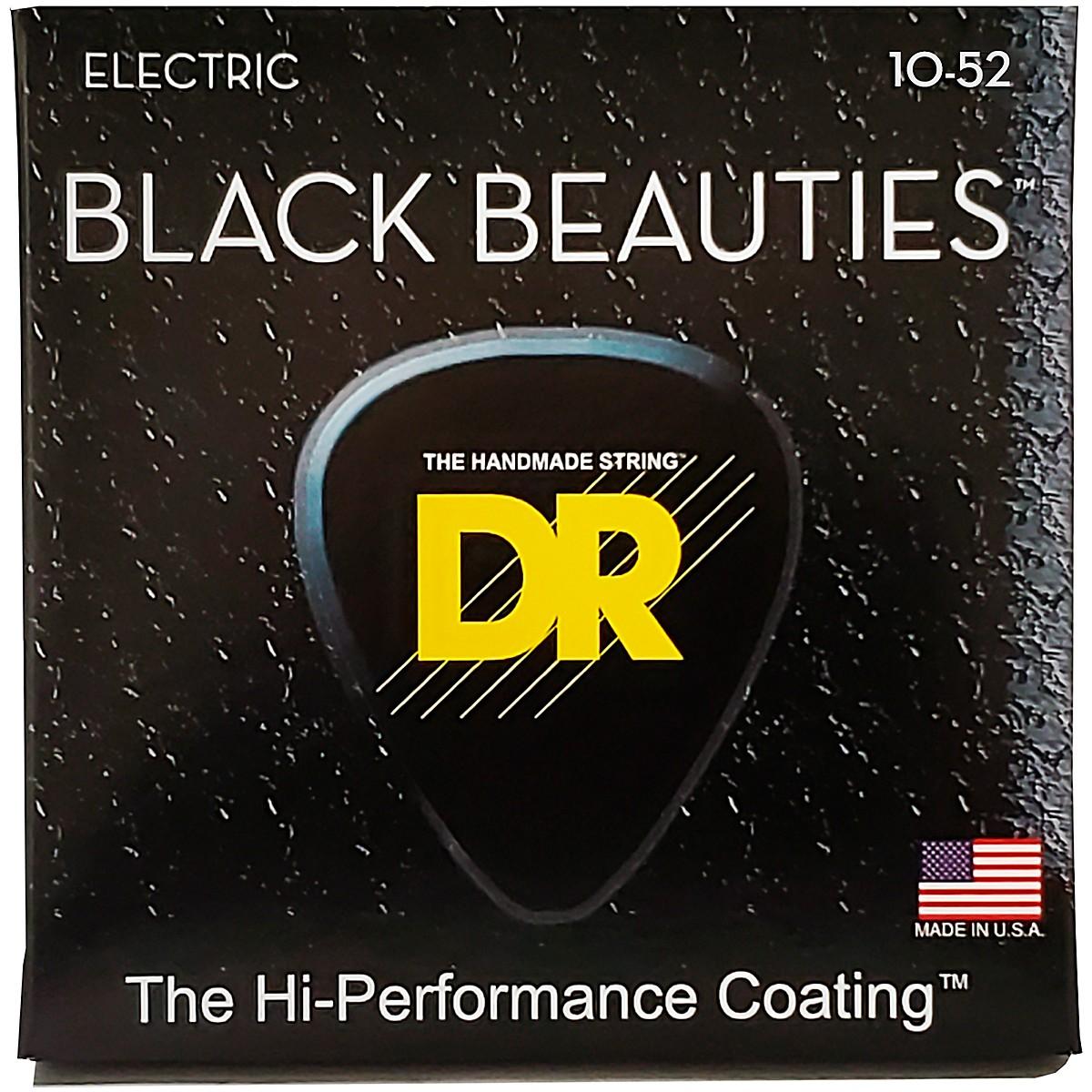 DR Strings Black Beauties Coated Electric Strings Medium-Heavy (10-52)