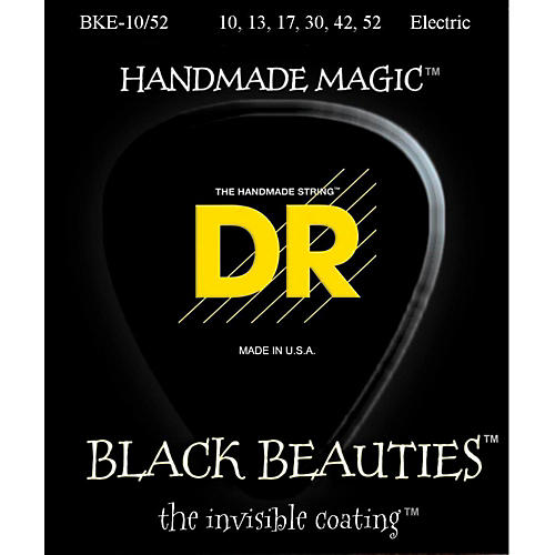 DR Strings Black Beauties Coated Electric Strings Medium-Heavy (10-52)