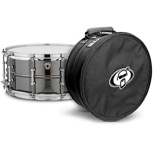 Ludwig Black Beauty Snare Drum with Tube Lugs and Protection Racket Case